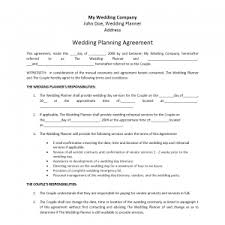 wedding planning contract templates event planner contract templates franklinfire co