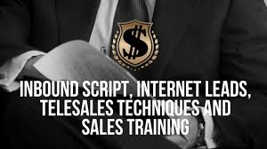 tele sales training inbound script internet leads telesales techniques and sales