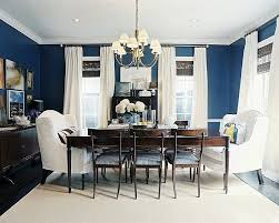 dining out in your new navy blue dining room bringing the picnic scenery inside