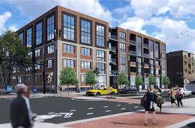 apartment building design. Vacant Ravenswood Building Readies For Apartment And Retail Reuse Design