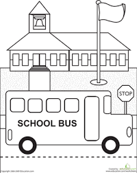 Small Picture Coloring Page School Bus Back To School Coloring Pages Printable