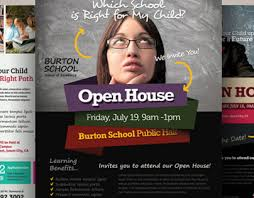 open house flyers template school open house flyers on behance