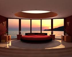 interior red bed on simple carpet facing beautiful sea inside awesome bed rooms with flowers bedroomamazing bedroom awesome