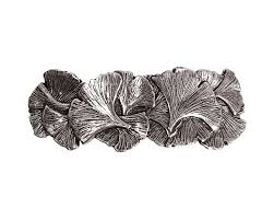 Oberon Design Hair Clips Ginkgo Hair Clip Medium Hand Crafted Metal Barrette Made In The Usa With A 70mm Imported French Clip By Oberon Design