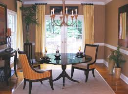 Formal Dining Room Curtain Ideas White Cotton Table Runner Brown - Dining room curtain designs
