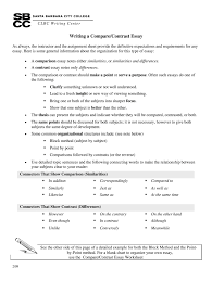 Compare And Contrast Essay Fill Online Printable