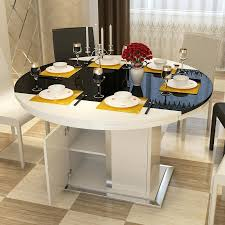 round dining table with storage modern minimalist glass dining tables and chairs combination small dining table