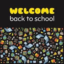 Welcome Back Graphics Doodle Welcome Back To School Poster Hand Drawn Stationary Graphic