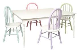 painted table and chairs painted kids table chair set valley furniture chalk painted dining table and