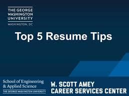 Video Resume Tips Top 5 Resume Tips Video Seascareers Seas Office Of