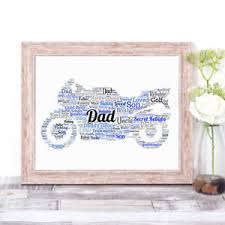 image is loading personalised word art print motorbike gift dad grandad