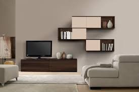Wooden Cabinets For Living Room Living Room Dark Brown Wooden Modern Wall Units On White Wall