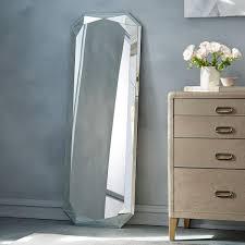 floor mirror. Faceted Floor Mirror - Emerald Cut