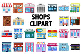 Shops Clipart Graphic By Mine Eyes Design Creative Fabrica