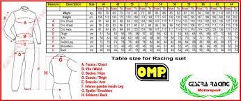 Omp Kart Suit Size Chart Backroads Forums
