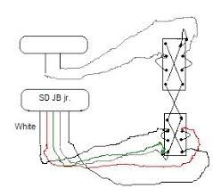 jb jr pickup into mustang i m new so please don t laugh here is my crude drawing for wiring a jb jr in a mustang