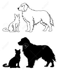 Silhouette De Chat Noir Banque D Images Vecteurs Et Illustrations