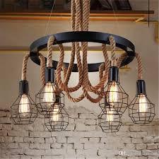 retro led rope pendant lights edison industrial pendant light chandelier vintage restaurant living bar lighting fixtures flush ceiling lights glass pendant