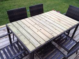 tile patio table top replacement amaze diy using fence boards great solution for glass tops home
