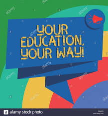 Conceptual Hand Writing Showing Your Education Your Way