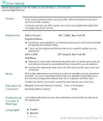 Sample Resume Title Suggestions