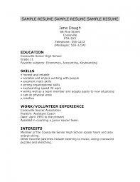 High School Senior Resume Examples On Templ Template Word Cv Cover