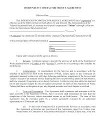 Independent Contractor Agreement Template Gorgeous Contractor Contract Template