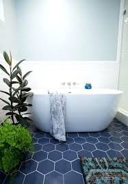hexagon floor tile patterns navy hex tiles with white grout give a seaside look to the hexagon floor tile patterns