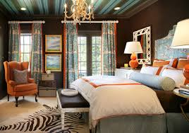 Bringing a Dark Room to Life with Pops of Orange  Suzy q better decorating  bible blog black ...