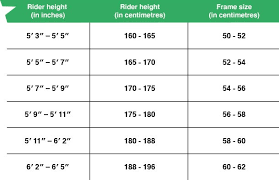 Fuji Size Chart Road Bike Road Bike Size Guide Follow Our Sizing Chart Boost Your