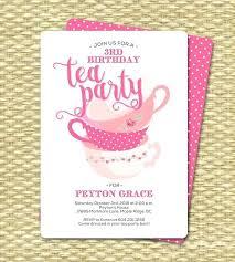 Kids Tea Party Invitation Wording Tea Party Invitation Wording Ideas Template For Kids Magnificent