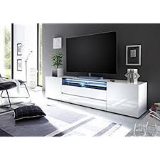 VICENZA Collection  Large TV Cabinet 203 U2013 European Design Elegant  Console High Gloss Stand With LED Light 80inch Width Tv 80 Inches Wide N82
