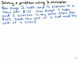 hat and scarf problem 2 variables help in high school math algebra free math help s by mathvids com