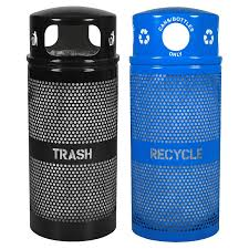 commercial outdoor trash cans. Commercial Outdoor Trash Cans Outside Recycling Bins A