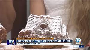 Ninas Fresh Bakery Creates Holiday Gingerbread House