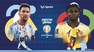 Argentina team vs. Colombia, for the ...