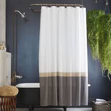 slate horizon striped shower curtain
