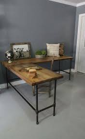 unique industrial furniture. Recycled Wood And Metal Piping Legs Office Desk Unique Industrial Furniture R
