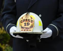 widow of fallen fdny chief michael fahy to donate to veterans ny  fahy s helmet is presented to his son