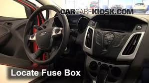 interior fuse box location 2012 2016 ford focus 2012 ford focus Fuse Box Charge And Sync Cable locate interior fuse box and remove cover fuse box charge and sync cable 9 ft