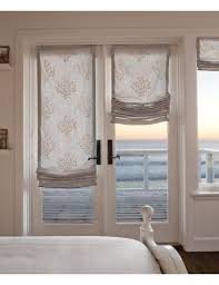 roman blinds on french doors.  Roman Relaxed Fabric Roman Shades Perfect For That Casual Beach Front Home Inside Roman Blinds On French Doors N