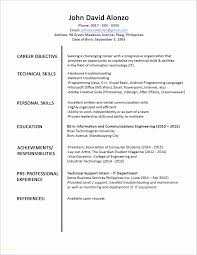 Sample Resume For Hardware And Networking For Fresher Inspirational