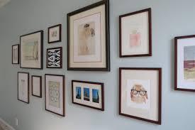 dark walnut frames gallery wall