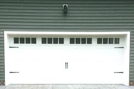 fake garage door windows install window inserts increase your curb appeal in