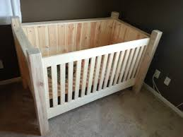 All In One Crib Diy Wood Crib This Is Another Option If Doing All Tree Limbs Logs