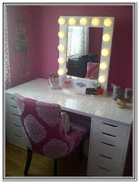 vanity dressing table with mirror and lights foter desk design