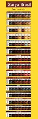 Surya Brasil Color Chart Chart In Surya Brasil Hair Color 2016