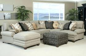 U Shaped Sectional Couches Encourage Q Linen Comfortable Sofas Chaise  Tufted Scroll Arm