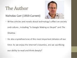 all essey is google making us stupid essay nicholas carr