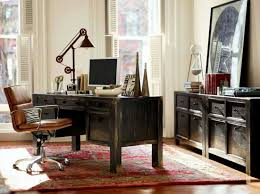 home office pottery barn. Home Office Pottery Barn Design Ideas With Dark Color Combined Brown Swivel Chair
